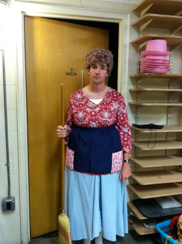Nathaniel Rothrock as Bertha Bumiller, well-meaning housewife and mother of 3